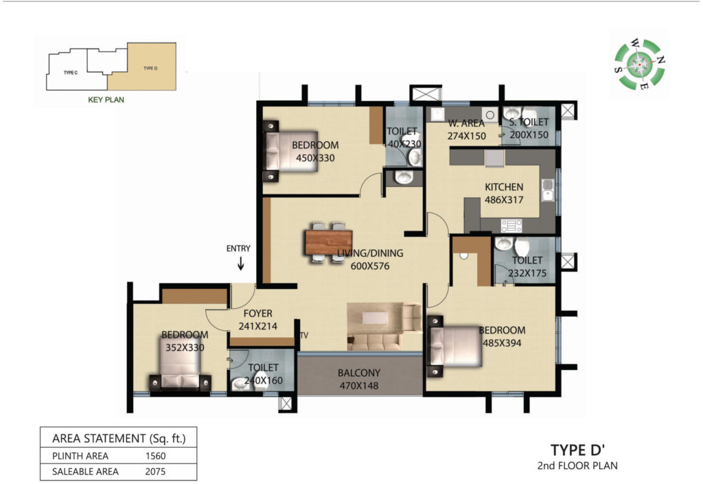 Victorian Square Floor Plan D