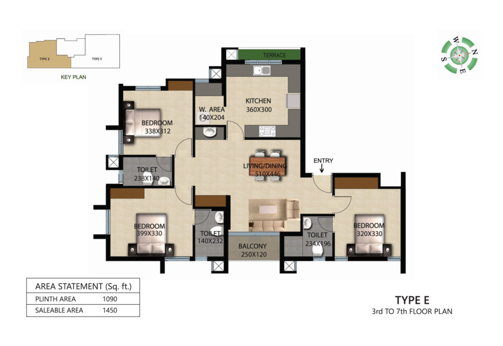 Victorian Square Floor Plan E