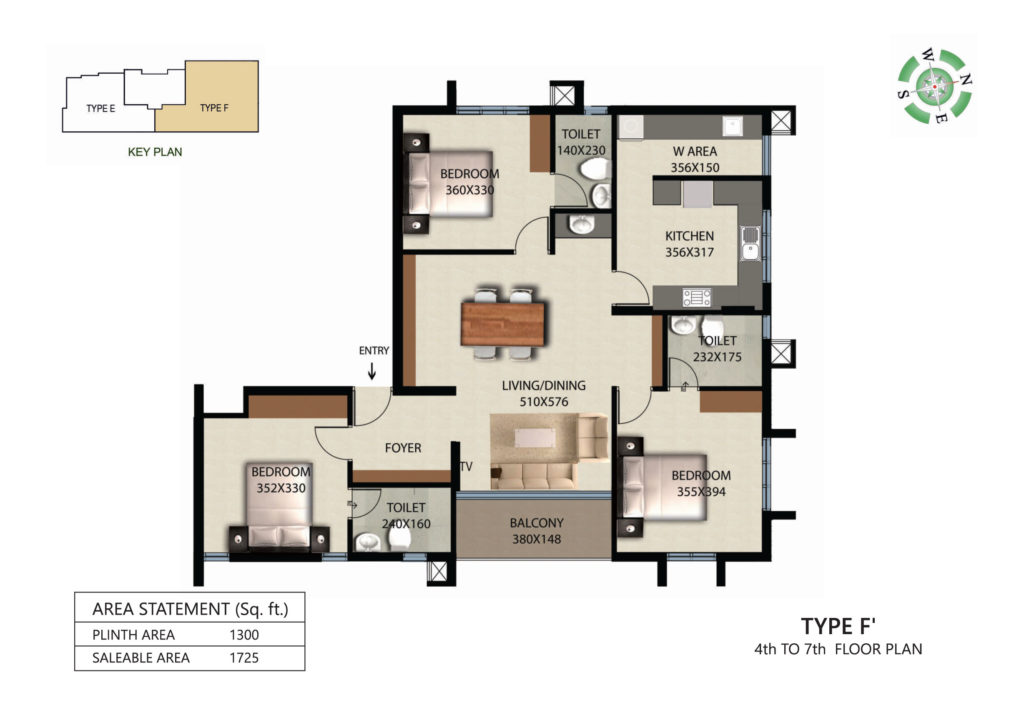 Victorian Square Floor Plan F