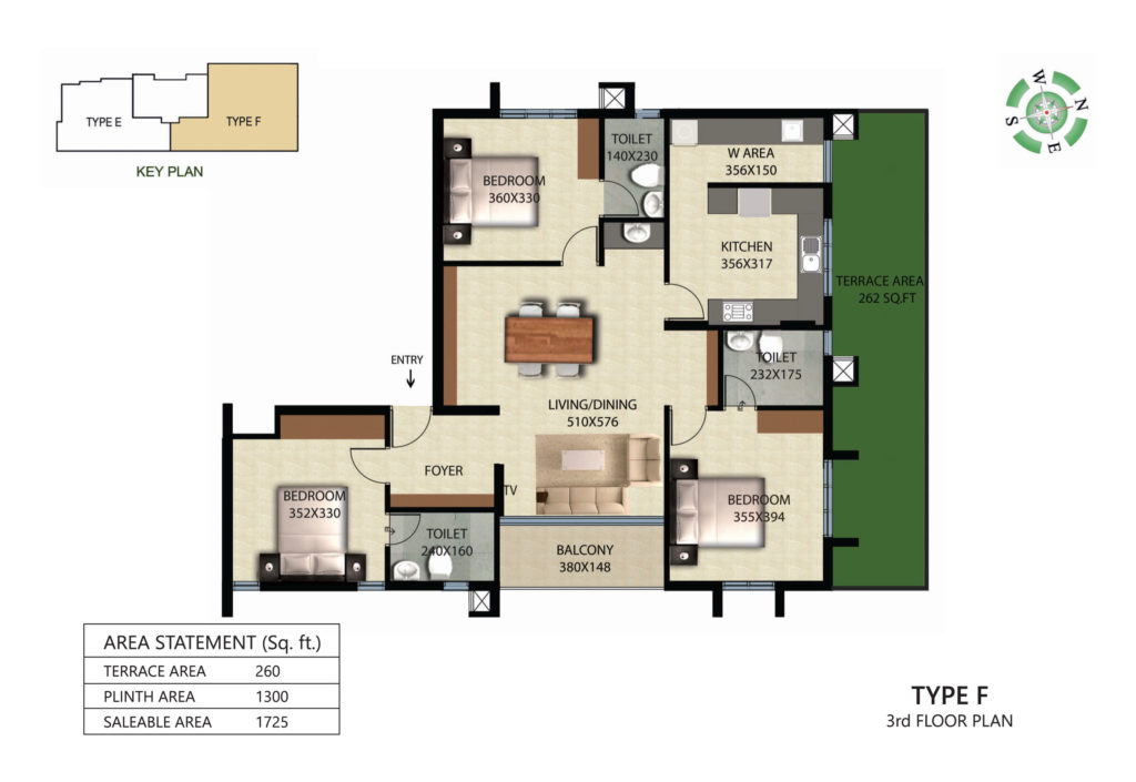 Victorian Square Floor Plan F TERRACE