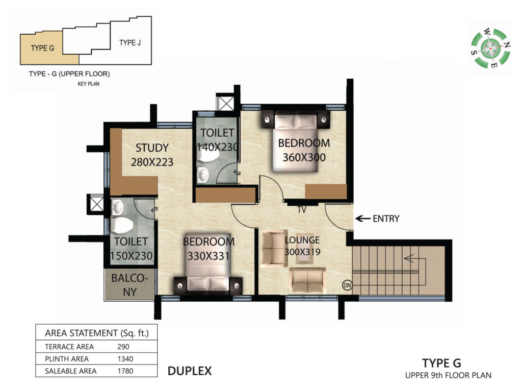 Victorian Square Floor Plan G UPPER