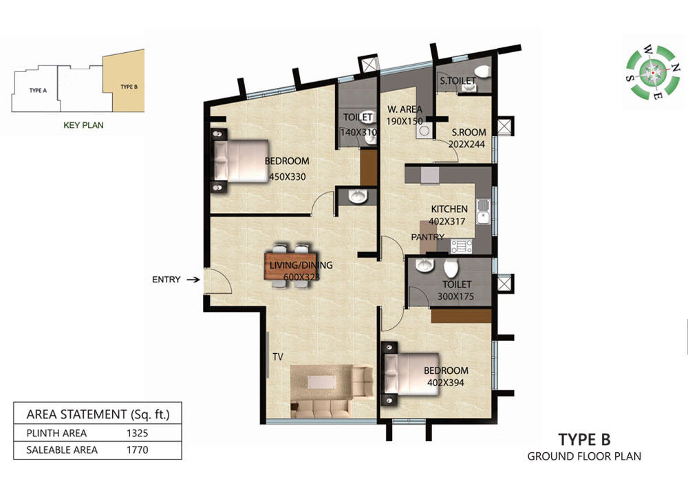 Victorian Square Floor Plan B