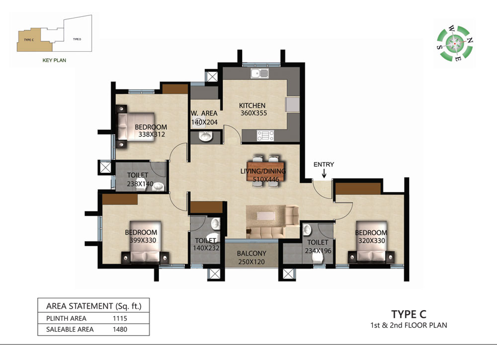 Victorian Square Floor Plan C