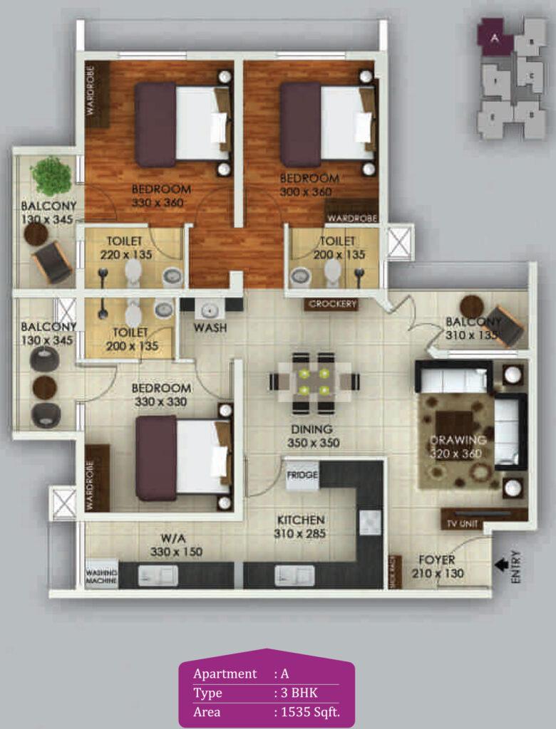 Vivian Suites Floor Plan A