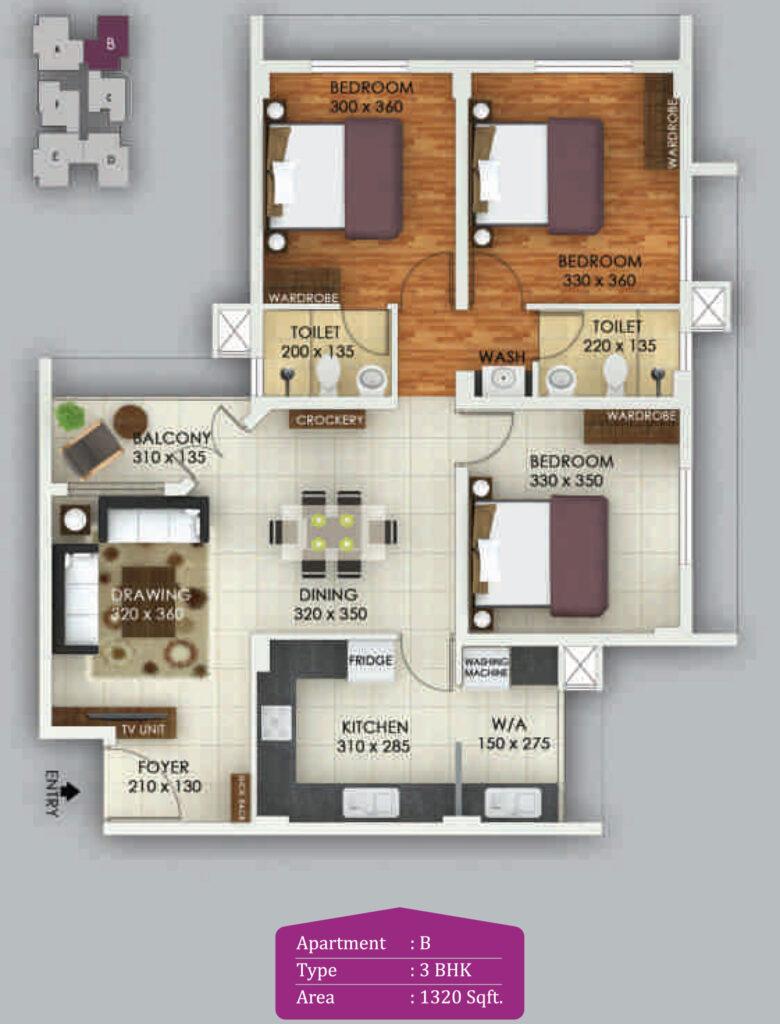 Vivian Suites Floor Plan B