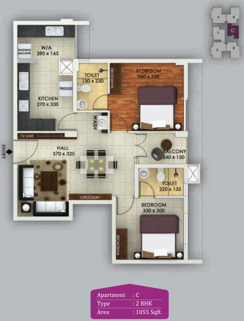 Vivian Suites Floor Plan C