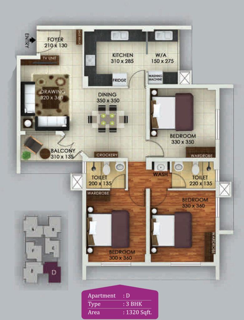 Vivian Suites Floor Plan D
