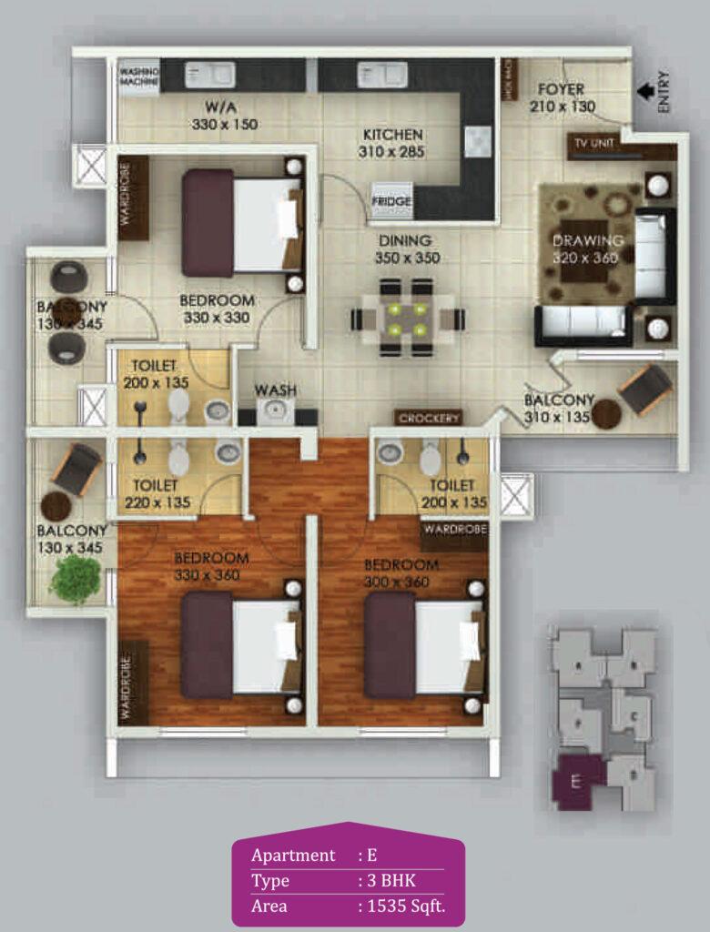 Vivian Suites Floor Plan E