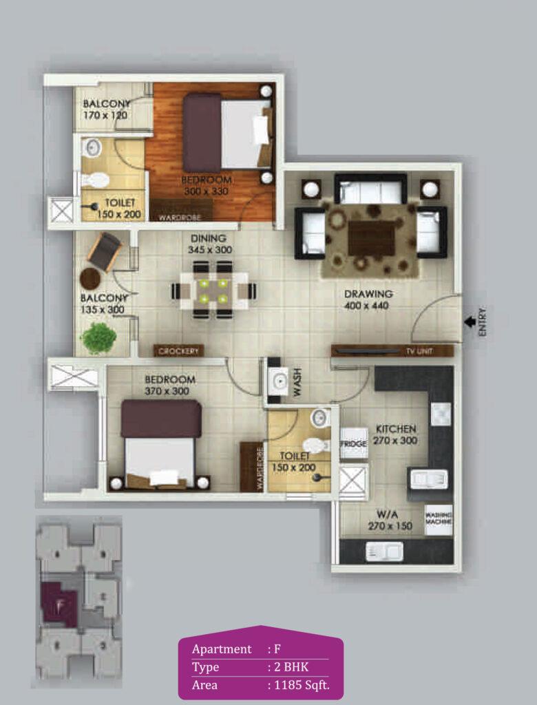 Vivian Suites Floor Plan F